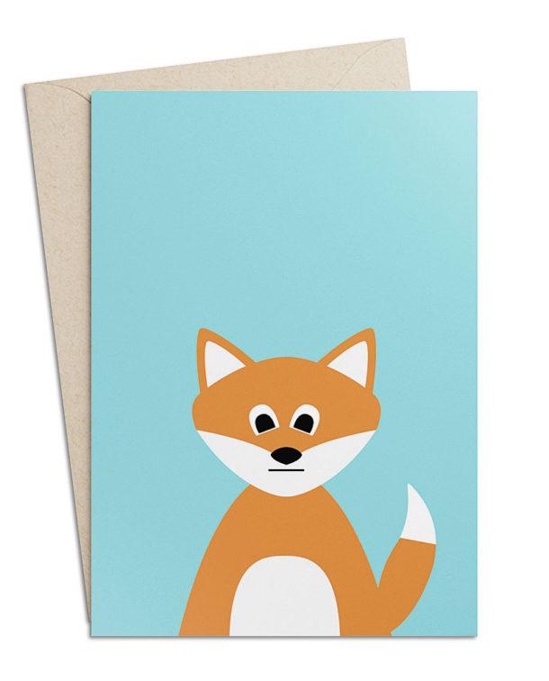 "Grusskarte ""Fuchs"""