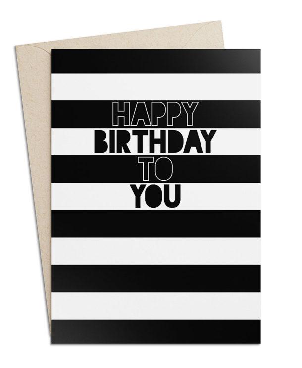 "Geburtstagskarte ""Happy Birthday to You"""