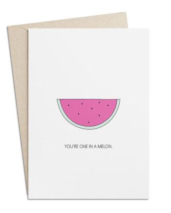 Grusskarte Melone