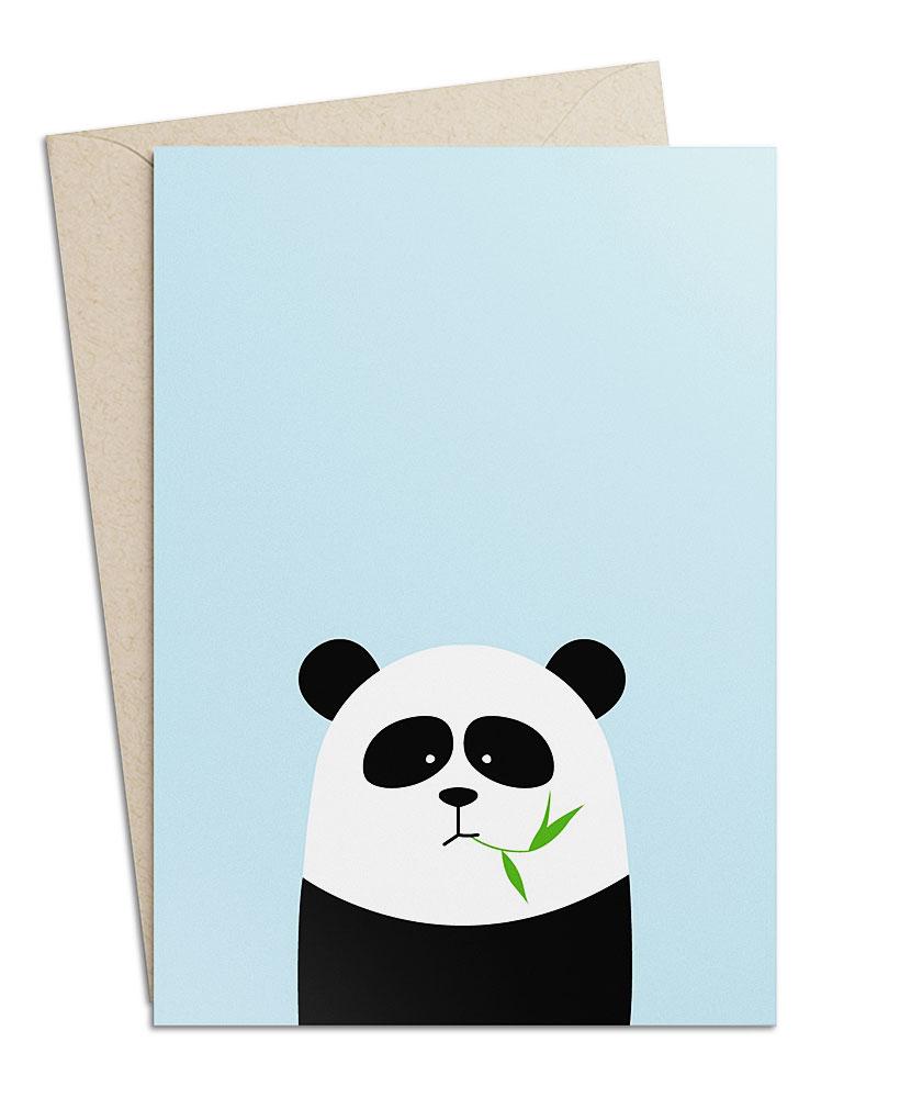Grusskarte Panda