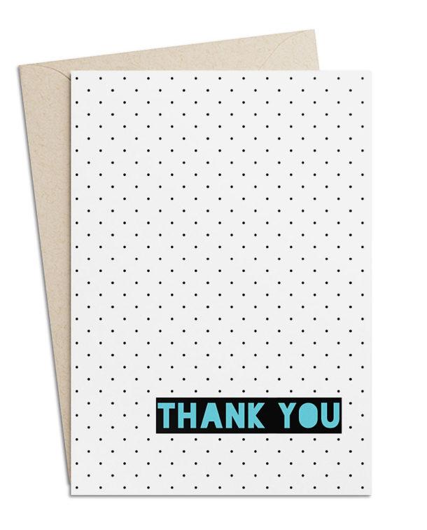 """Dankeskarte """"Thank you"""""""