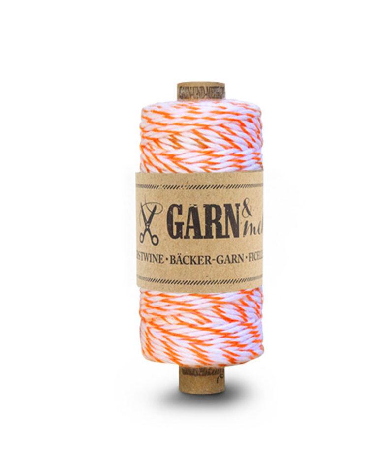Bäckergarn Neon Orange/Weiss von Garn & Mehr