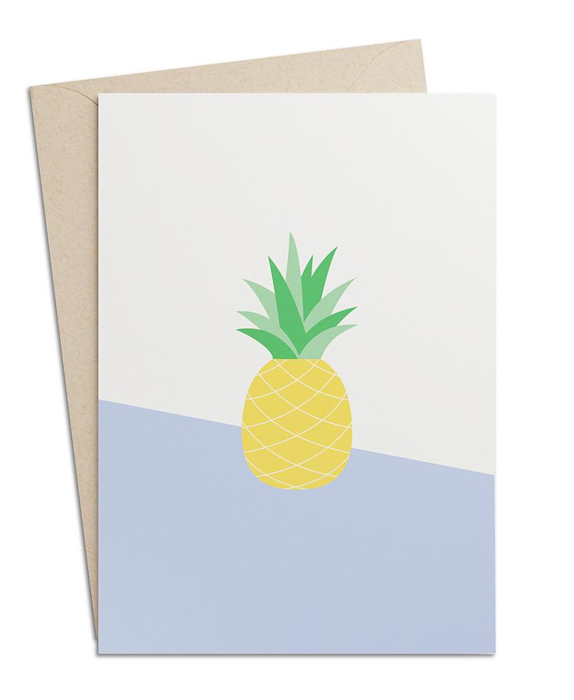 Grusskarte Ananas