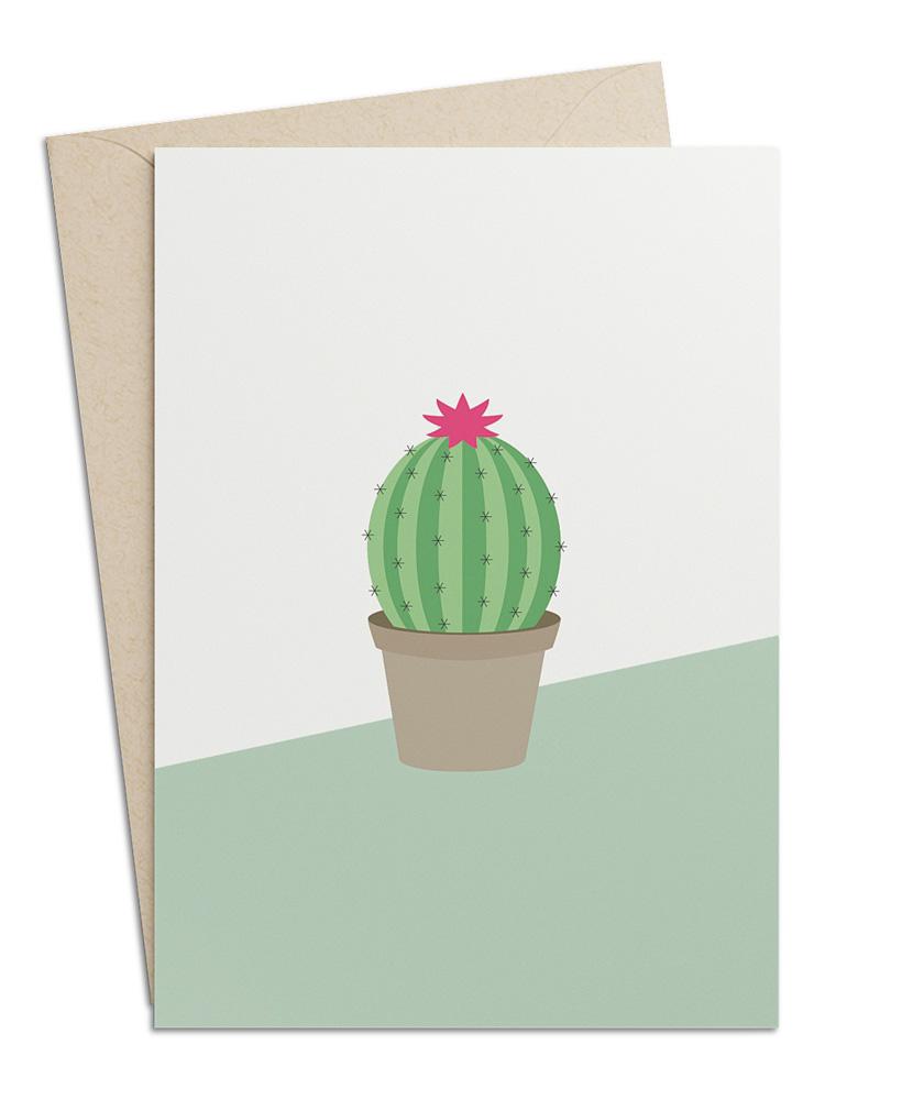 Grusskarte Kaktus