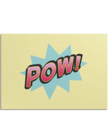 Postkarte Pow