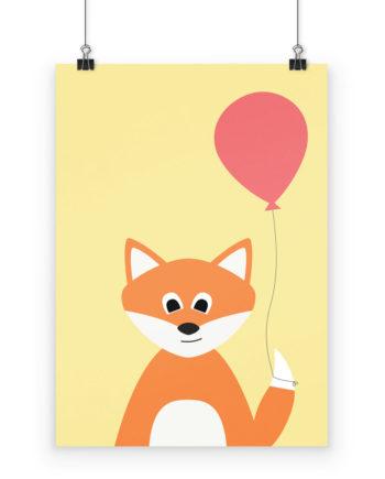 Poster Fuchs fürs Kinderzimmer
