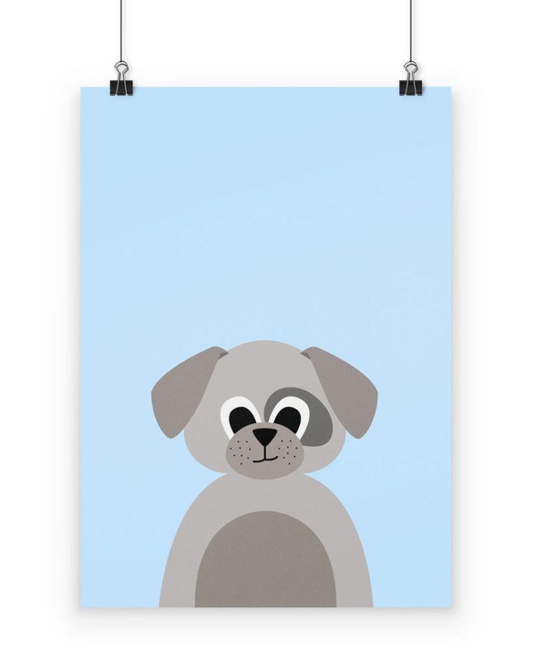 Poster Hund fürs Kinderzimmer