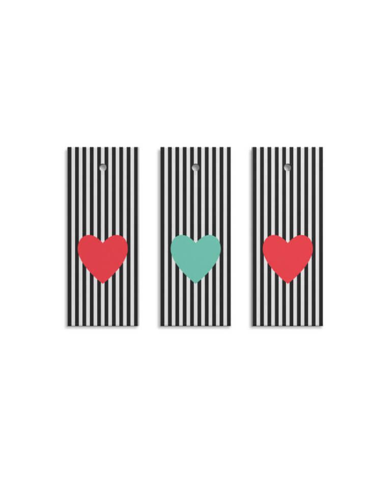 Geschenkanhänger Heart Stripes