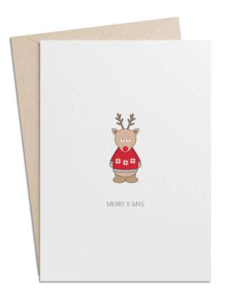 Weihnachtskarte Rudolph