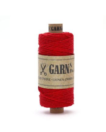 Leinenzwirn Rot von Garn & Mehr