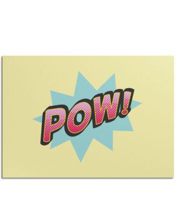 Postkarte POW!