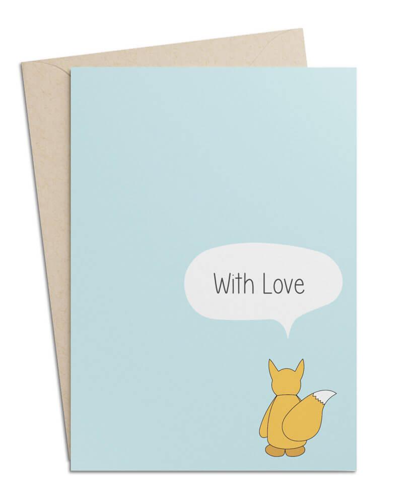 "Grusskarte ""With Love"""