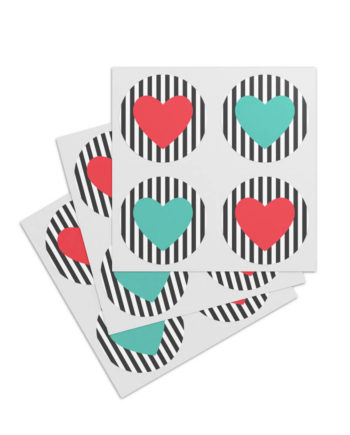 Sticker Heart Stripes