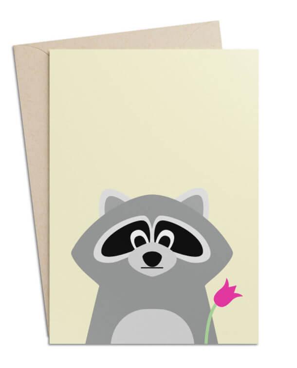 Grusskarte Waschbär