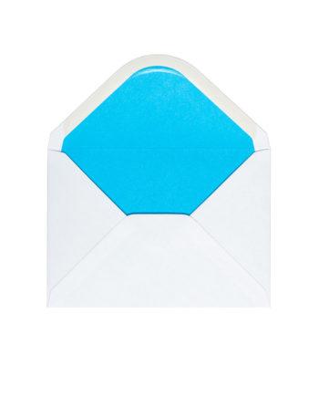 Kuvert Weiss/Blau