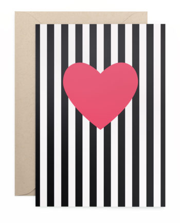 Grusskarte Klappkarte Heart Stripes