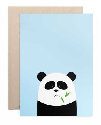 Grusskarte Klappkarte Panda
