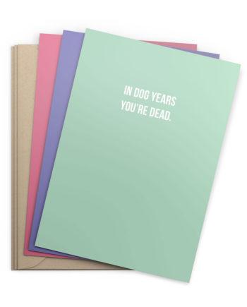 3er-Set Geburtstagskarten (Klappkarten)