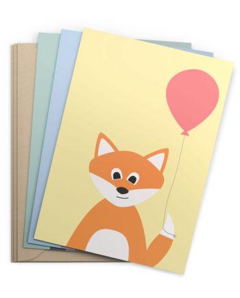 3er-Kartenset Tiere (Klappkarten)